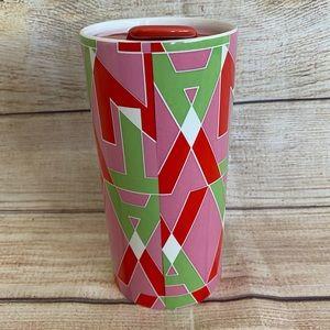 TEAVANA Ceramic Travel Tumbler Mug with lid